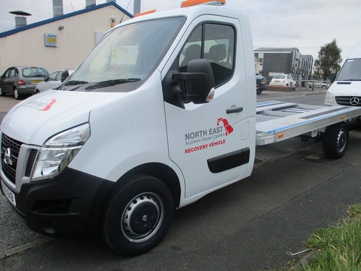 New recovery vehicle joins the fleet at North East Accident Repair Centres in Newcastle