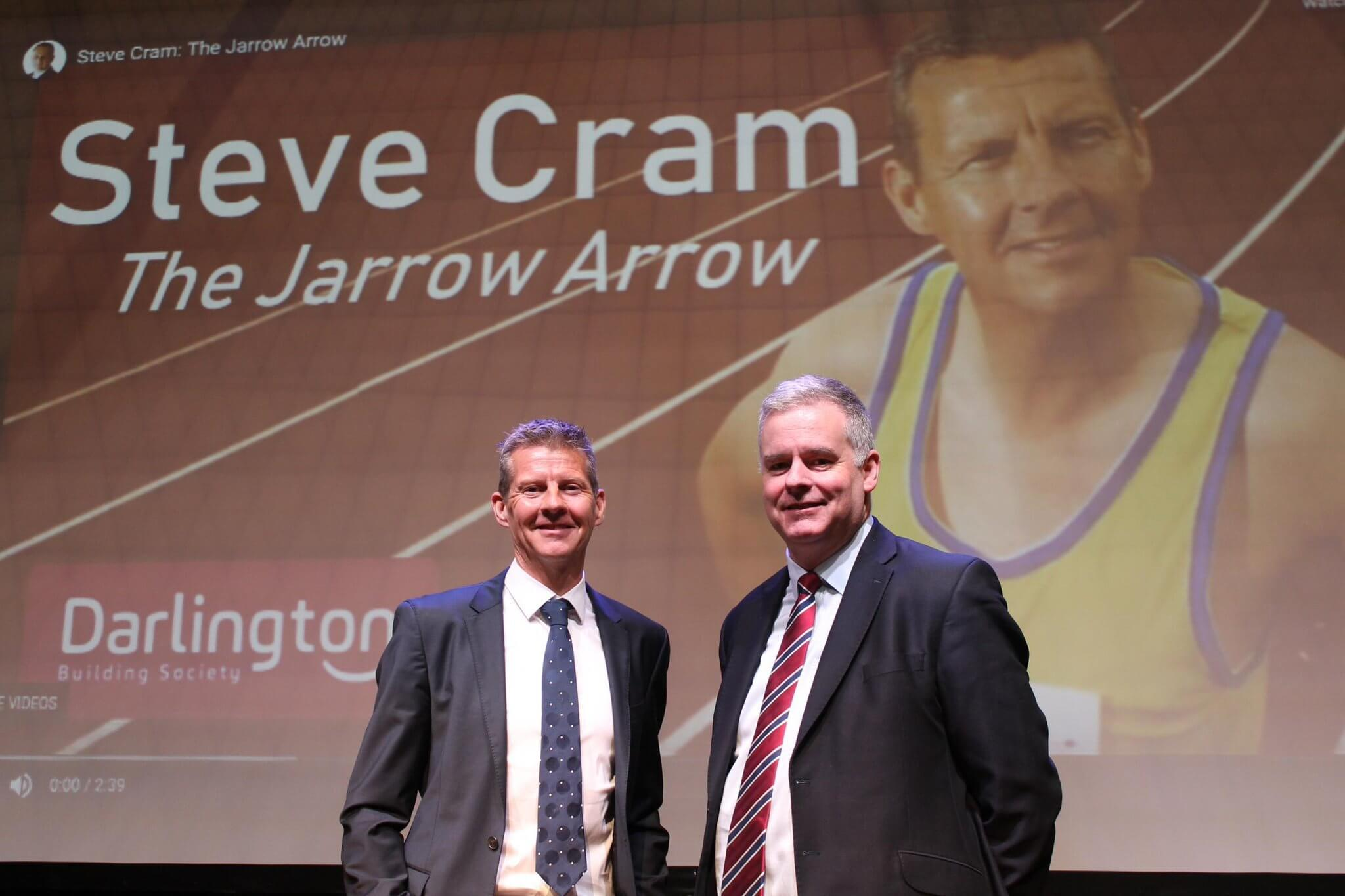 Athletics legend motivates staff at North-East building society